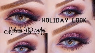 Holiday Glitter Party makeup look using Mac Pigments Makeupbyani Thumbnail