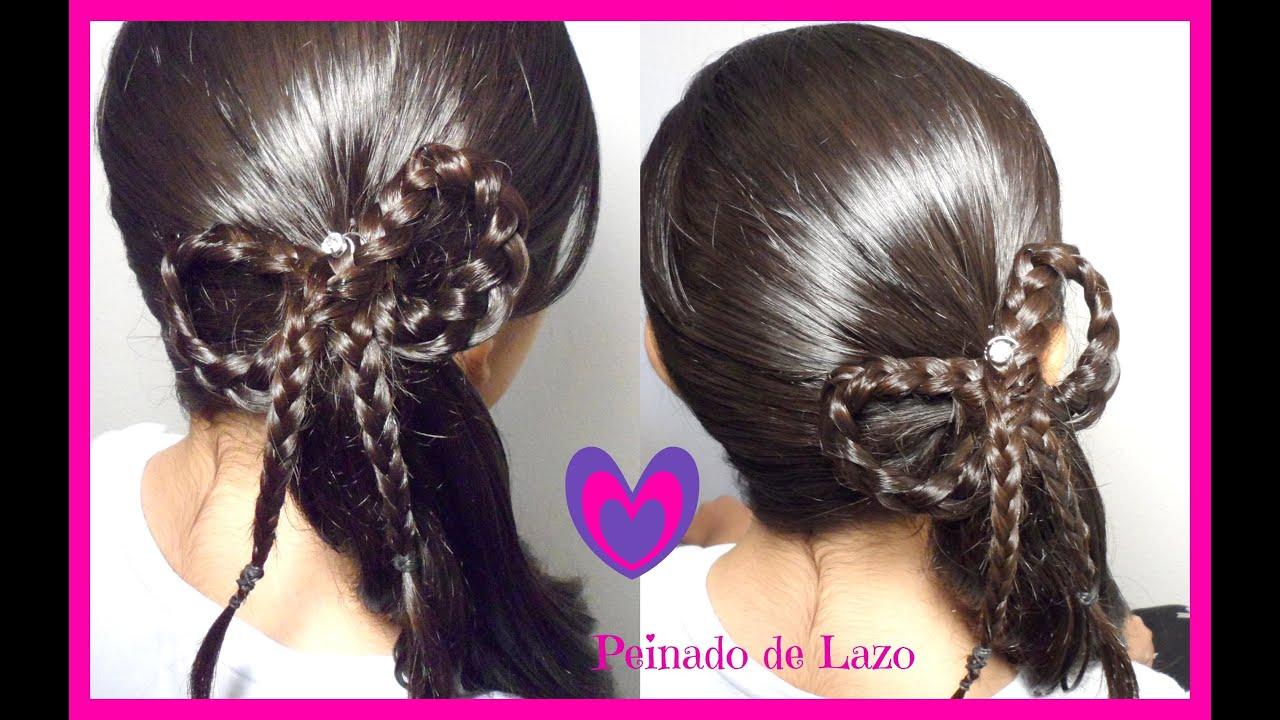 peinado coleta con trenza de lazomoo peinados para ninas