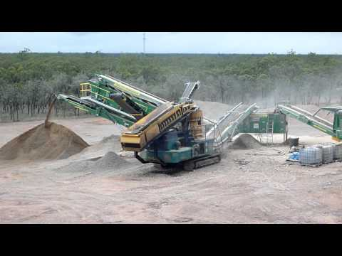 Mobile Crushing near Nebo, Queensland