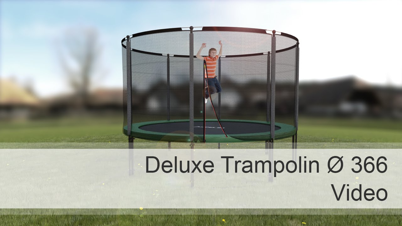 ampel 24 deluxe trampolin 366 cm mit netz youtube. Black Bedroom Furniture Sets. Home Design Ideas