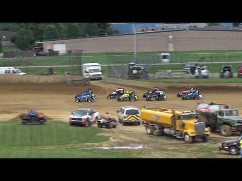 Lawrenceburg Speedway Indiana Midget Week Heat 6-8-19