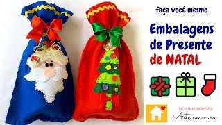 Faça uma linda Embalagem de Papai Noel para presentear