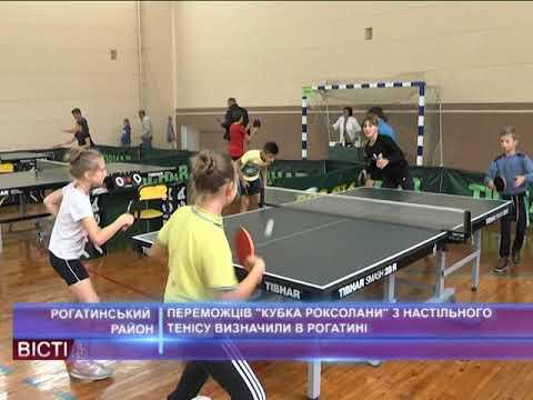 """Переможців """"Кубок Роксолани"""" з настільного тенісу визначили в Рогатині"""