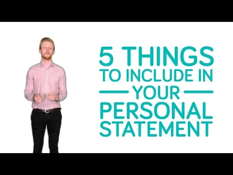 What to include in the perfect personal statement