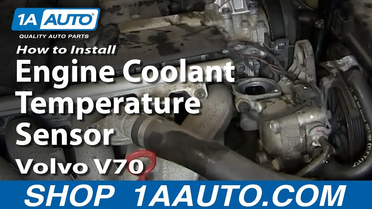 how to replace coolant temperature sensor 99 02 volvo v70 [ 1280 x 720 Pixel ]