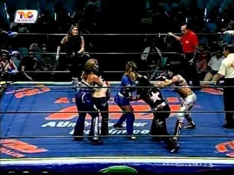 CMLL: Marcela, Lluvia, Star Fire vs. Princesa Blanca, Hiroka, Crazy Star, 2009/05/18