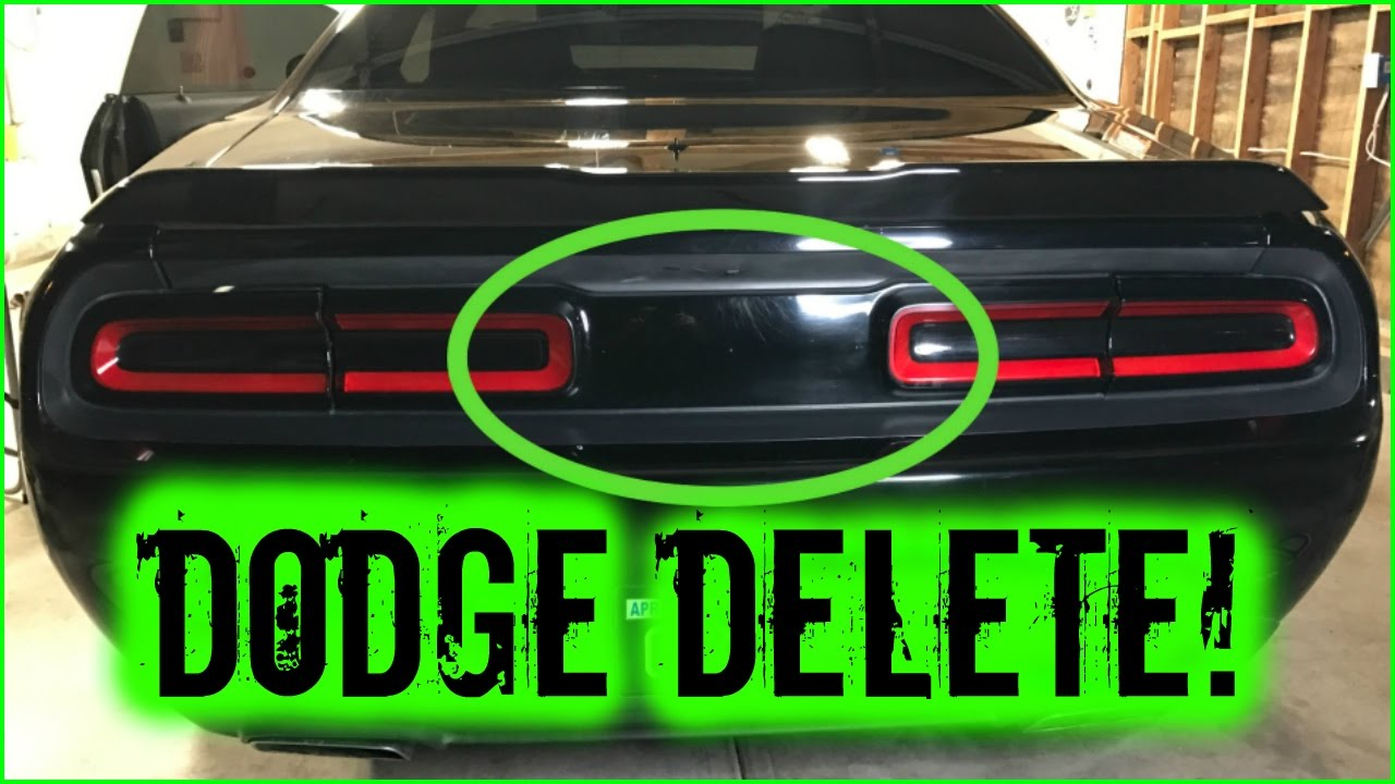 How To Debadge And Remove Car Emblems Dodge Challenger