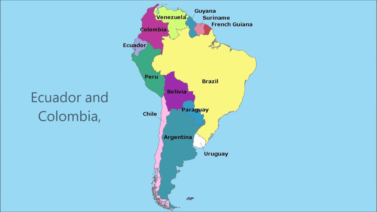 South America Map Song.The South America Song Youtube