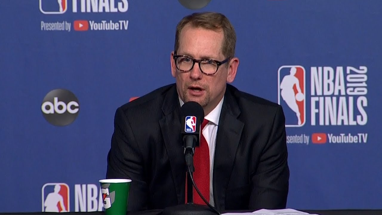 Nick Nurse Postgame Interview - Game 1 | Warriors vs Raptors | 2019 NBA Finals