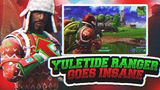 Rare Yuletide Ranger Drops 15 Kills! Solo Gameplay! (Fortnite Battle Royale)