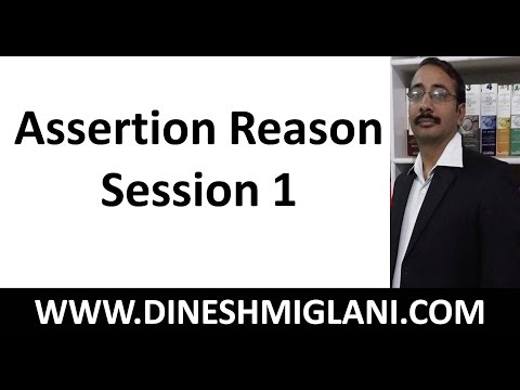 Assertion Reason Session 1 by Dinesh Miglani