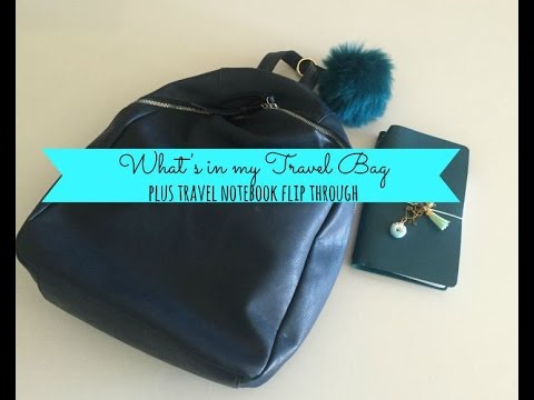 What's In My Travel Bag? PLUS Travel Notebook Flip Through