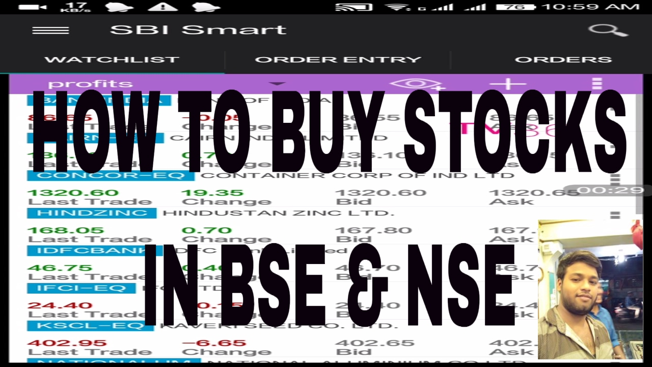 How To Buy Stocks In Bse And Nse Using Sbi Smart App In Mobile Phone
