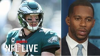 Carson Wentz accepted the Eagles' offer at the perfect time for him - Victor Cruz | NFL Live