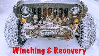 Snow Wheeling Jeep Wrangler Oregon Cascades Part 2/2