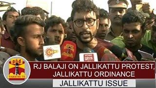 RJ Balaji On Jallikattu Protest & Jallikattu Ordinance   PRESS MEET   Thanthi TV