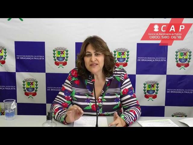 Secretária de Saúde Marina de Fátima Oliveira fala sobre coronavírus