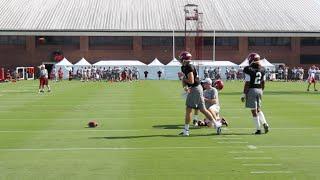 Alabama quarterbacks throw at fall practice - Tuesday, Aug. 23