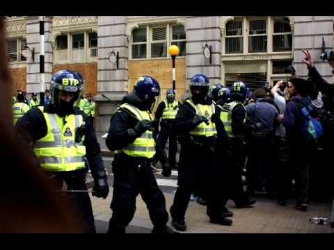 Images of G20 Meltdown and Protest at Bank of England & Climate Camp London April 1