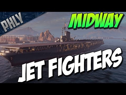 World Of Warships - MIDWAY JET FIGHTERS - Aircraft Carrier R