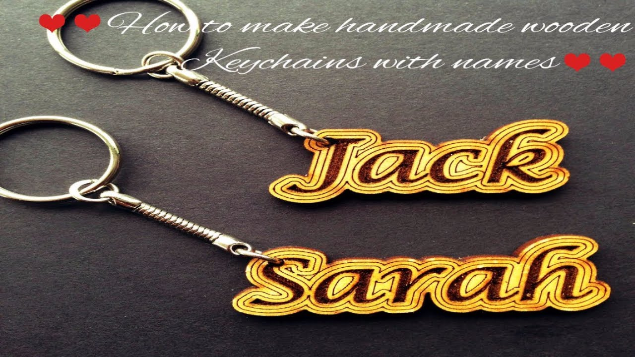 How to make handmade wooden Keychains with names| Easy Steps | Best gifts  for loved ones
