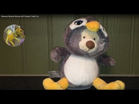 Kleeneze Musical Moving Soft Penguin Teddy Toy