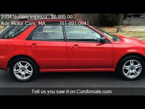 2004 subaru impreza 2 5 ts for sale in waltham ma 02452. Black Bedroom Furniture Sets. Home Design Ideas