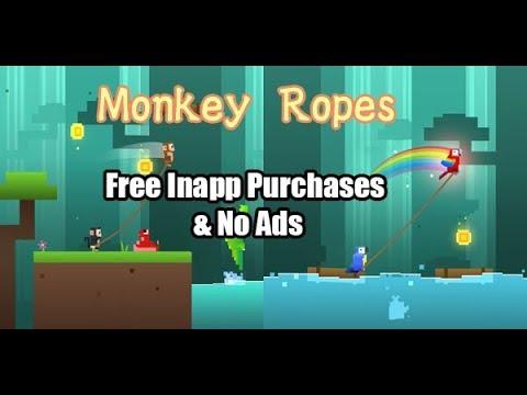 Monkey Ropes Free Inapp Purchases & No Ads