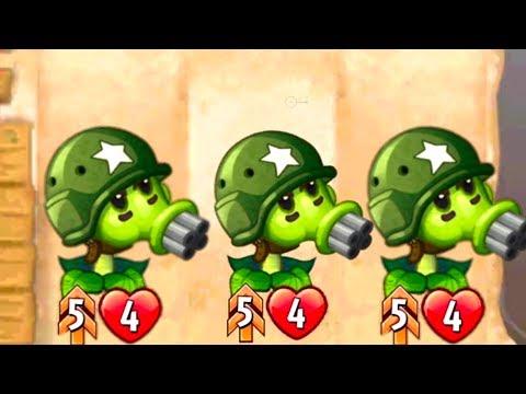 Plants vs Zombies Heroes Peashooter Deck in Battle Ranked Match - Gatling Pea