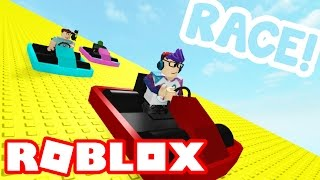 Racing down 999,999,999 feet in Roblox