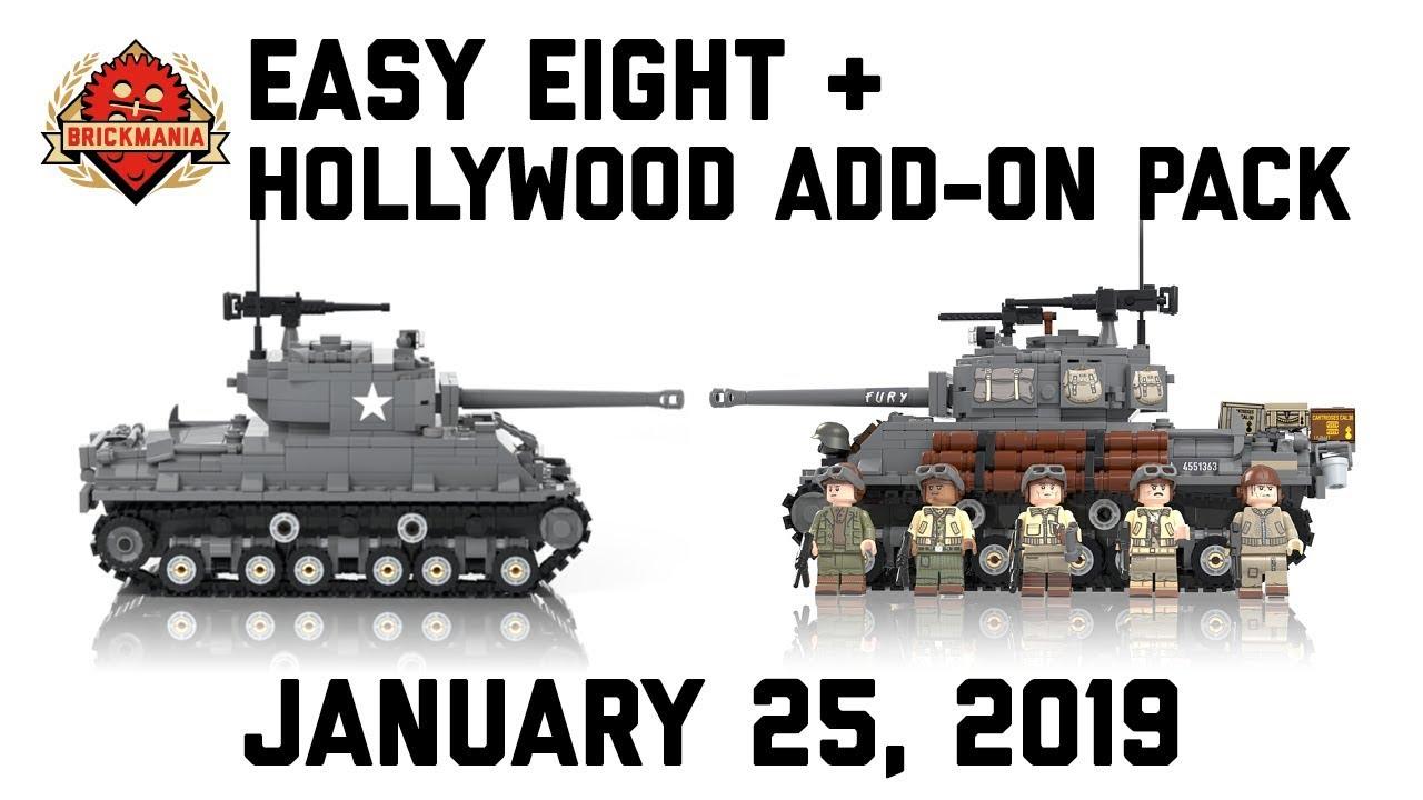 Easy Eight - M4A3E8 Sherman Tank - Custom Military Lego