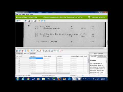 FamilySearch Indexing: How to Index Indian Census Rolls
