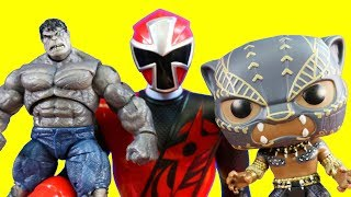Power Rangers Hulk And Black Panther Toy Collection