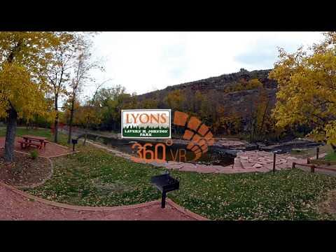 LaVern Johnson Park Campground Lyons Colorado - 360 Video Tour 4K