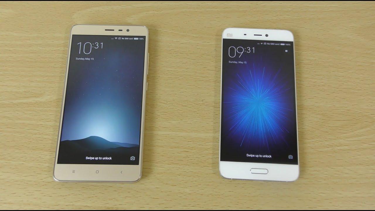 Xiaomi mi5 vs xiaomi redmi note 3 pro