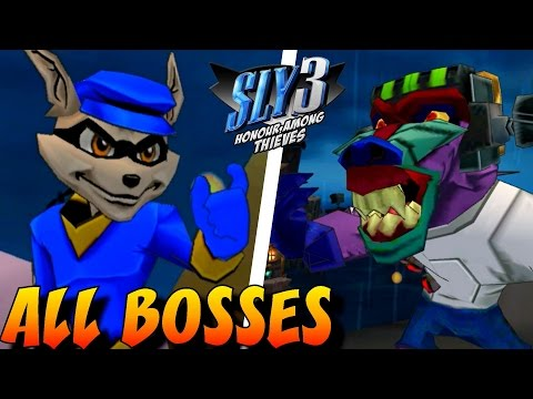 Sly 3: Honor Among Thieves - All Bosses (No Damage)