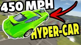 This Hyper Car Goes 450 MPH! New Fastest Car? - BeamNG Drive Automation Mods