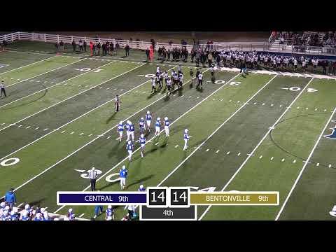 Central Junior High Football | 9th Grade Championship Game | Vs. Bentonville