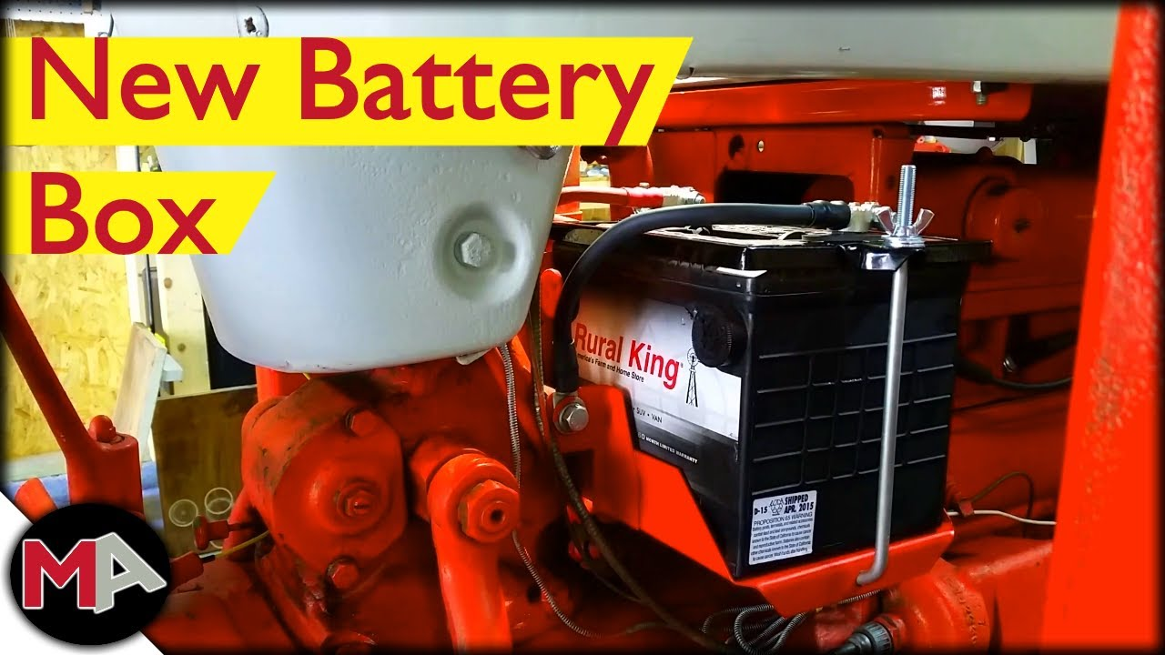 Replacing The Battery Box On A Ford Tractor Youtube