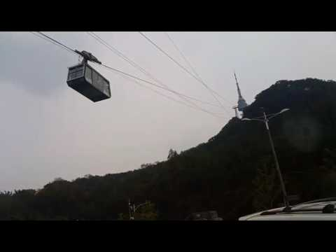 cable car in seoul tower