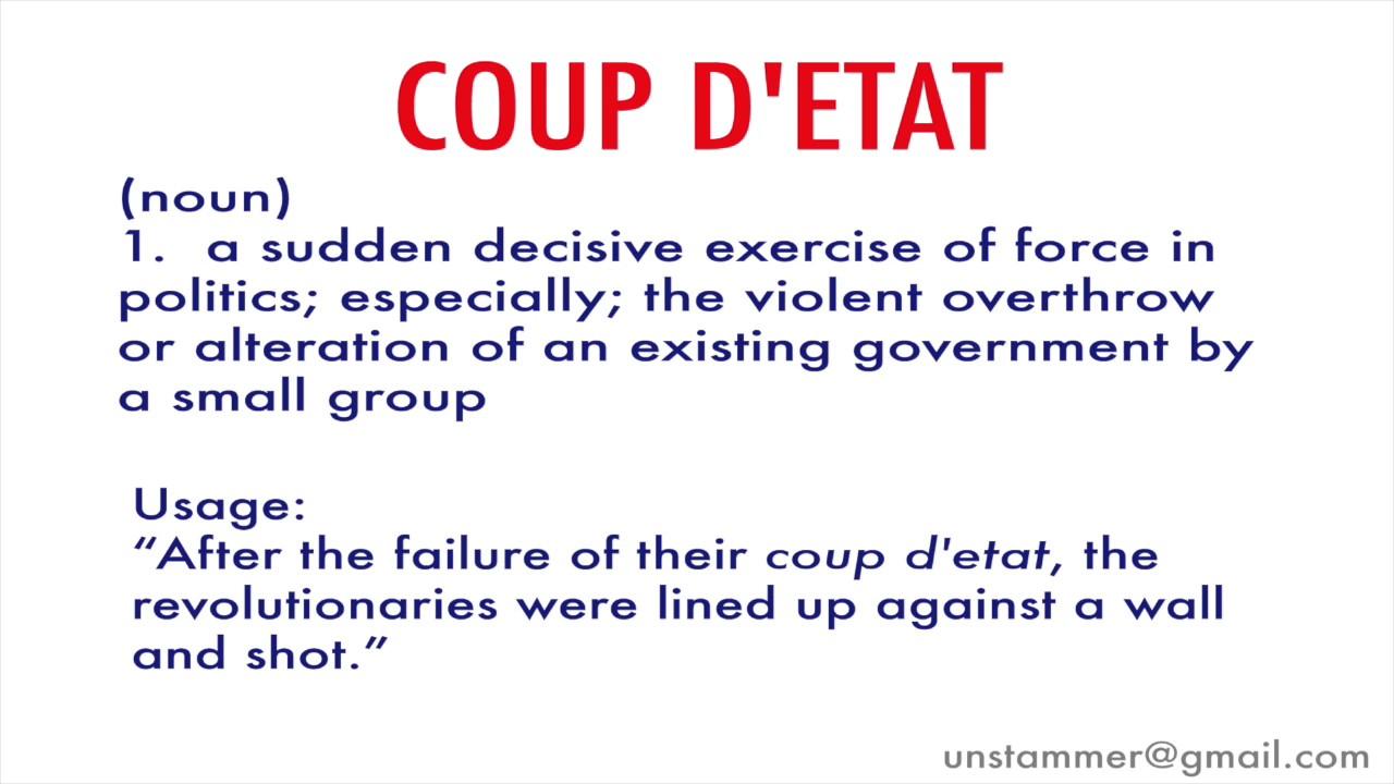 Superior How To Pronounce Coup Du0027etat