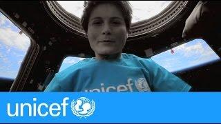 Astronaut samantha cristoforetti sings imagine   unicef