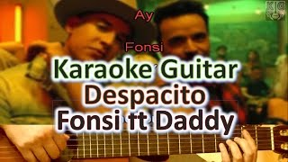Despacito - Luis Fonsi ft Daddy Yankee (BAJA) - Karaoke Guitar