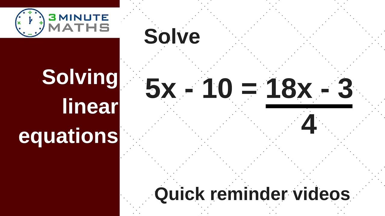 Worksheet Level 5 Maths Problems solving linear equations gcse maths level 5 question youtube question