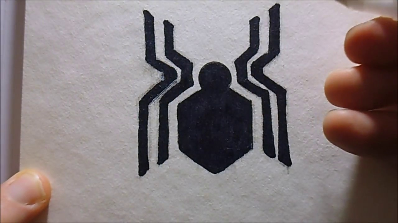 How To Draw Spiderman Logo