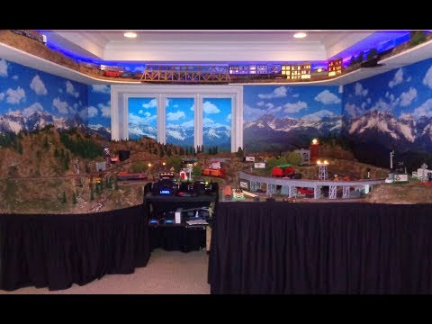 Lionel Large Private Model Railroad RR O Scale Gauge Train Layout of Wonderful Awesome Trains
