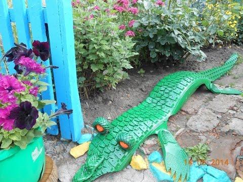 видео: Поделки из шин для сада - крокодил. 35 фото крокодила из шин