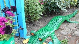 Поделки из шин для сада - крокодил. 35 фото крокодила из шин(Из шин можно сделать разные поделки. В этом видео для вас мы подобрали поделку для сада крокодил. Выглядит,..., 2014-09-22T11:57:01.000Z)