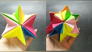 How to make paper moving star/How to make paper moving flower/Paper tricks/Paper crafts