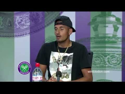 Wimbledon 2016: Nick Kyrgios interview after his game vs. Andy Murray match [engl]